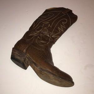 THE SANDERS Men's Cowboy Leather Boots Sz 7D